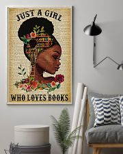 Book Just A Girl Who Loves Books 11x17 Poster lifestyle-poster-1