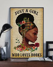 Book Just A Girl Who Loves Books 11x17 Poster lifestyle-poster-2