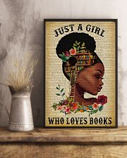 Book Just A Girl Who Loves Books 11x17 Poster lifestyle-poster-3