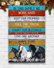 Horse Girl In This Family We Work Hard  11x17 Poster aos-poster-portrait-11x17-lifestyle-23