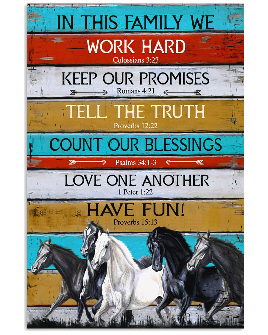 Horse Girl In This Family We Work Hard  11x17 Poster