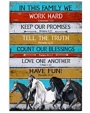 Horse Girl In This Family We Work Hard  11x17 Poster front
