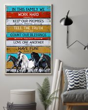Horse Girl In This Family We Work Hard  11x17 Poster lifestyle-poster-1
