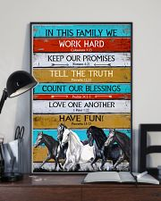 Horse Girl In This Family We Work Hard  11x17 Poster lifestyle-poster-2