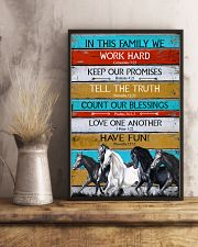 Horse Girl In This Family We Work Hard  11x17 Poster lifestyle-poster-3