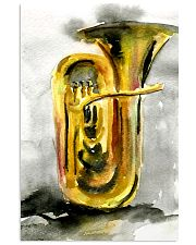 Tubist Tuba Watercolor 11x17 Poster front
