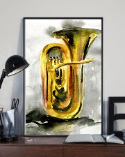 Tubist Tuba Watercolor 11x17 Poster lifestyle-poster-2