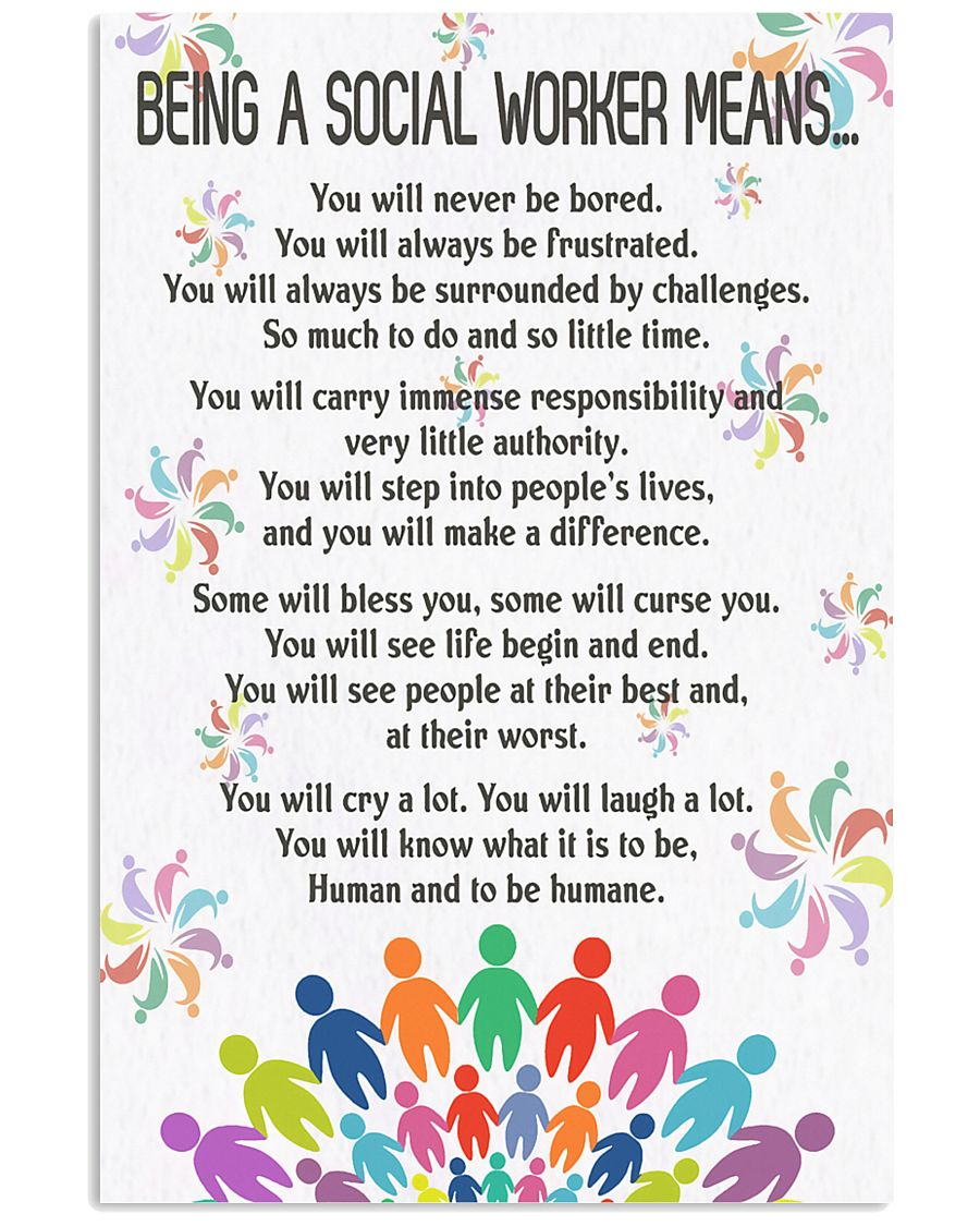 Being A Social Workers Mean Poster 11x17 Poster