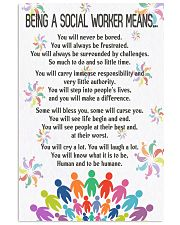 Being A Social Workers Mean Poster 11x17 Poster front