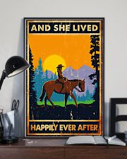 Horse Girl And She Lived Happily Ever After 11x17 Poster lifestyle-poster-2