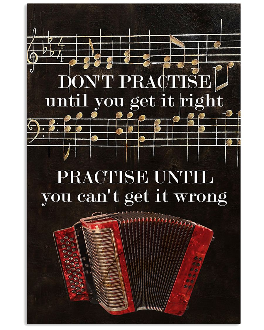 Accordionist You can't get it wrong 11x17 Poster