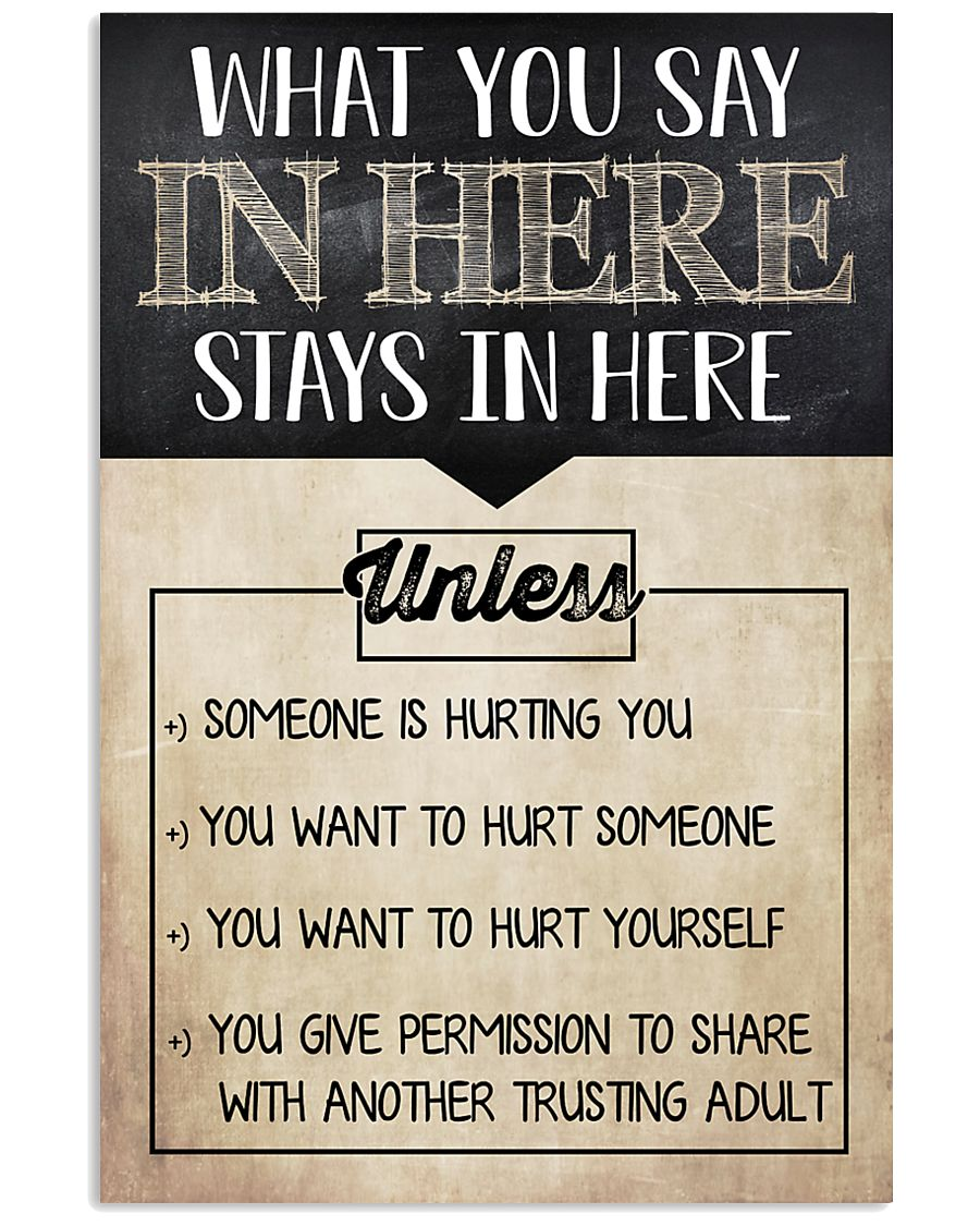 Social Worker What You Say In Here 11x17 Poster
