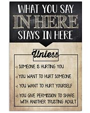 Social Worker What You Say In Here 11x17 Poster front