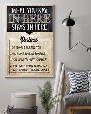 Social Worker What You Say In Here 11x17 Poster lifestyle-poster-1