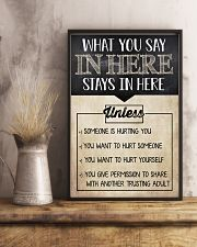 Social Worker What You Say In Here 11x17 Poster lifestyle-poster-3