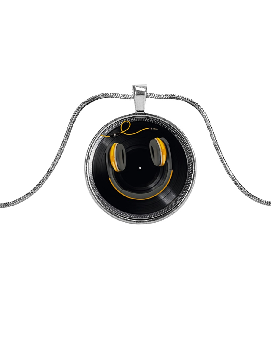DJ Smile Metallic Circle Necklace