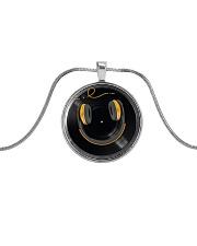 DJ Smile Metallic Circle Necklace front