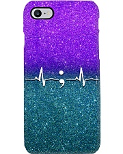 Suicide Prevention Heartbeat  Phone Case i-phone-7-case