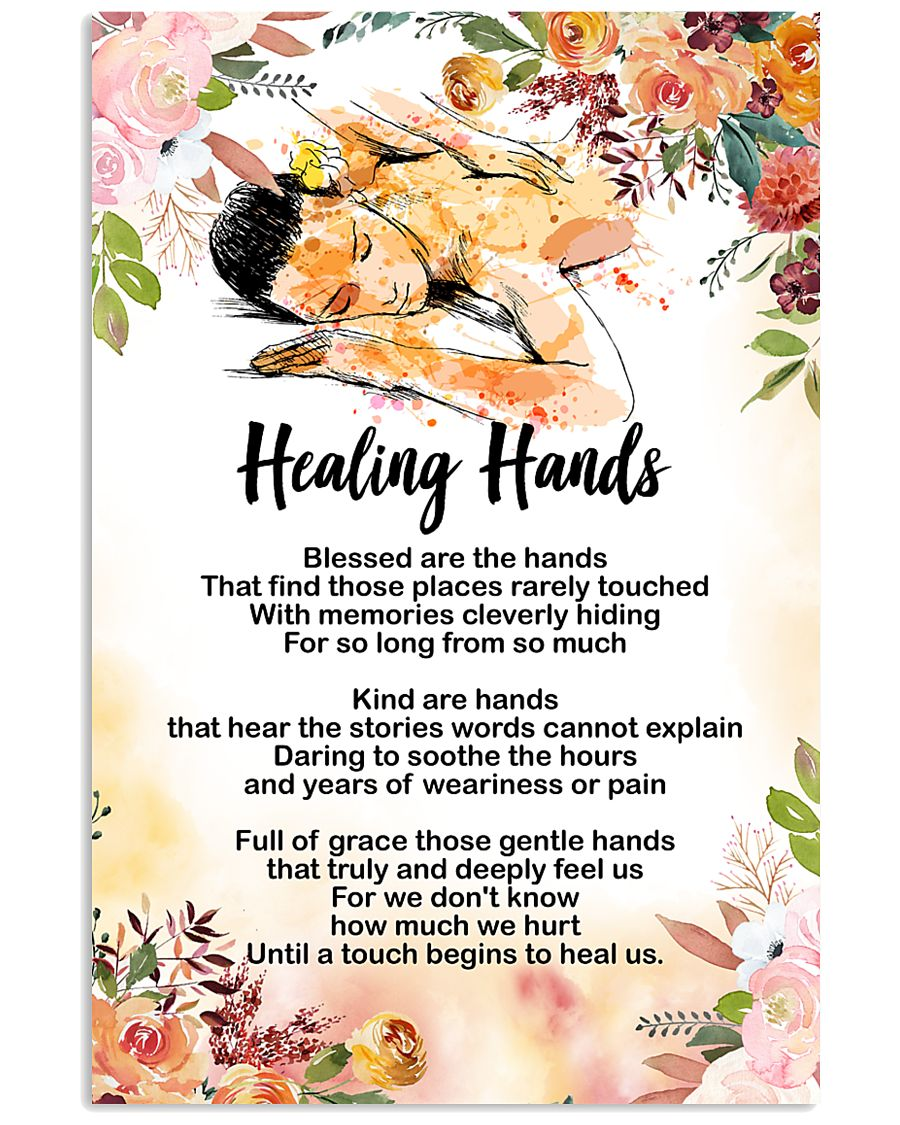 Massage Therapist Healing Hands Poster 11x17 Poster