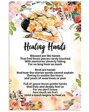 Massage Therapist Healing Hands Poster 11x17 Poster front