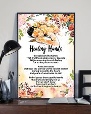 Massage Therapist Healing Hands Poster 11x17 Poster lifestyle-poster-2