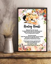Massage Therapist Healing Hands Poster 11x17 Poster lifestyle-poster-3