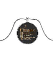 Trumpet Hot Air Metallic Circle Necklace thumbnail