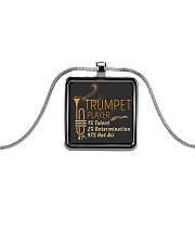 Trumpet Hot Air Metallic Rectangle Necklace thumbnail