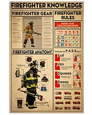 Firefighter Knowledge 11x17 Poster front