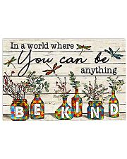 Autism In A World You Can Be Anything Be Kind 17x11 Poster front