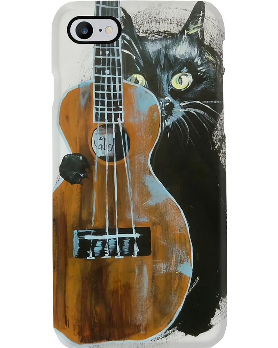 Black Cat Ukulele  Phone Case
