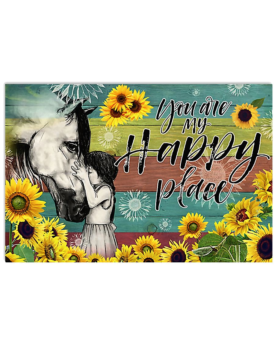 Horse Girl - You Are My Happy Place 17x11 Poster