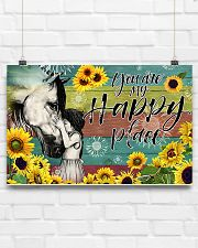 Horse Girl - You Are My Happy Place 17x11 Poster poster-landscape-17x11-lifestyle-17