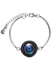 Photographer Gift  Metallic Circle Bracelet thumbnail