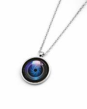 Photographer Gift  Metallic Circle Necklace aos-necklace-circle-metallic-lifestyle-04
