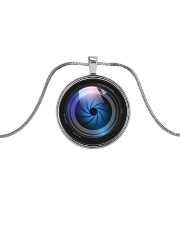 Photographer Gift  Metallic Circle Necklace front
