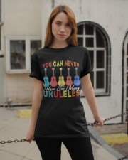 Never Have Too Many Ukuleles Classic T-Shirt apparel-classic-tshirt-lifestyle-19
