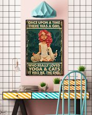 Yoga Girl Loves Cat 11x17 Poster lifestyle-poster-6