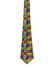 Autism Awareness Colorful Puzzles Tie front
