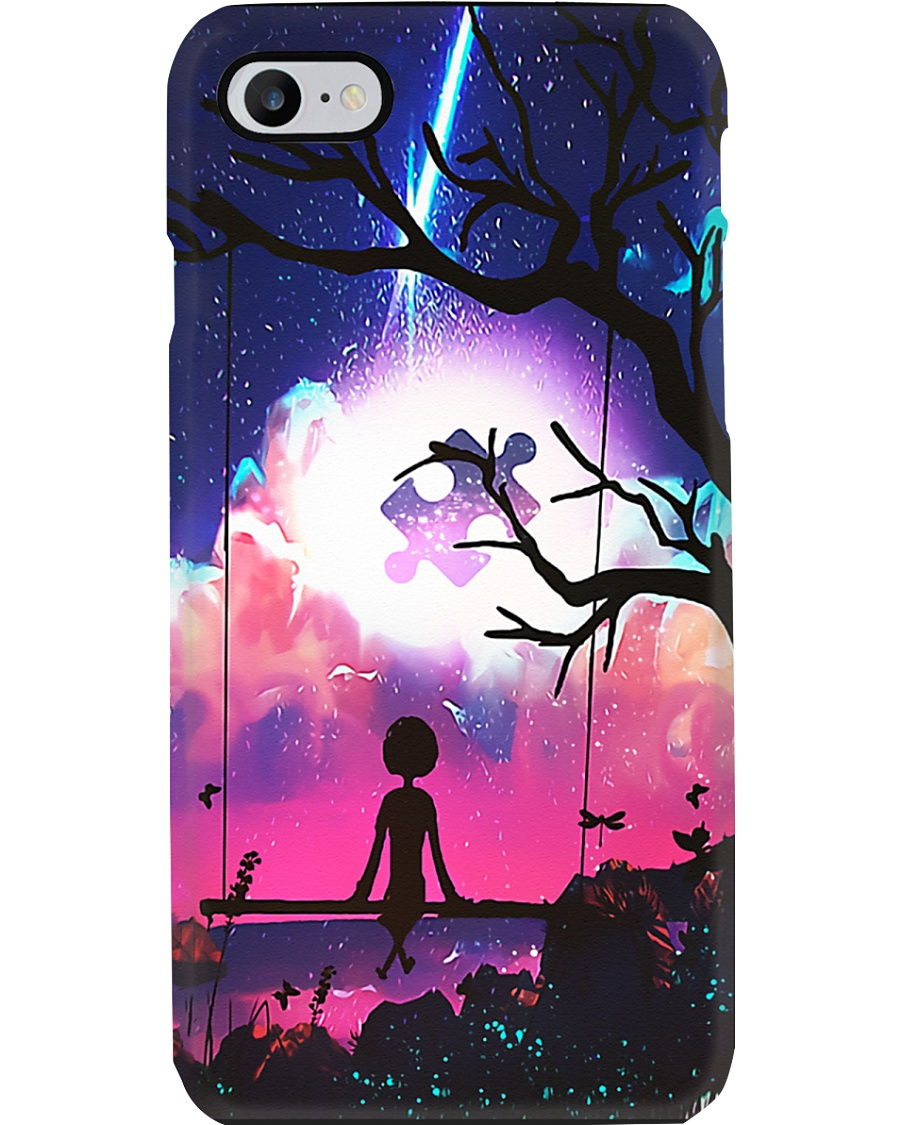 Autism Awareness Puzzle on the cloud Phone Case
