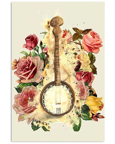 Blooming Flowers Banjo Instrument