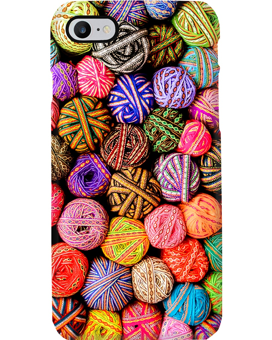 Crochet and Knitting Colorful Yarn Balls Phone Case