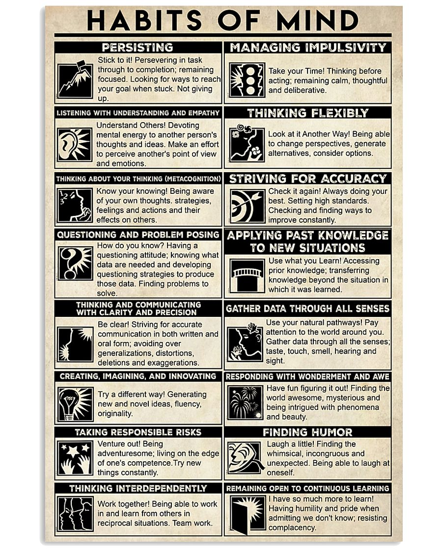 Social Worker Habits Of Mind 11x17 Poster