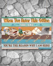 Social Worker You're The Reason 17x11 Poster aos-poster-landscape-17x11-lifestyle-13