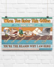 Social Worker You're The Reason 17x11 Poster aos-poster-landscape-17x11-lifestyle-17