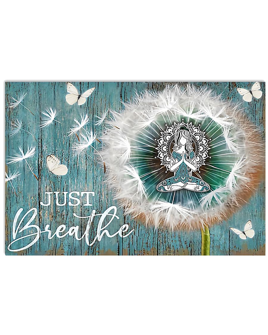 Yoga - Just Breathe 17x11 Poster