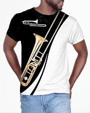 Trombonist Trombone Black And White All-over T-Shirt aos-all-over-T-shirt-lifestyle-front-04