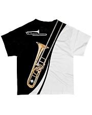 Trombonist Trombone Black And White All-over T-Shirt back