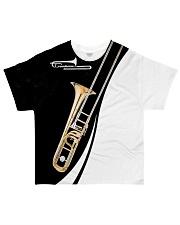 Trombonist Trombone Black And White All-over T-Shirt front