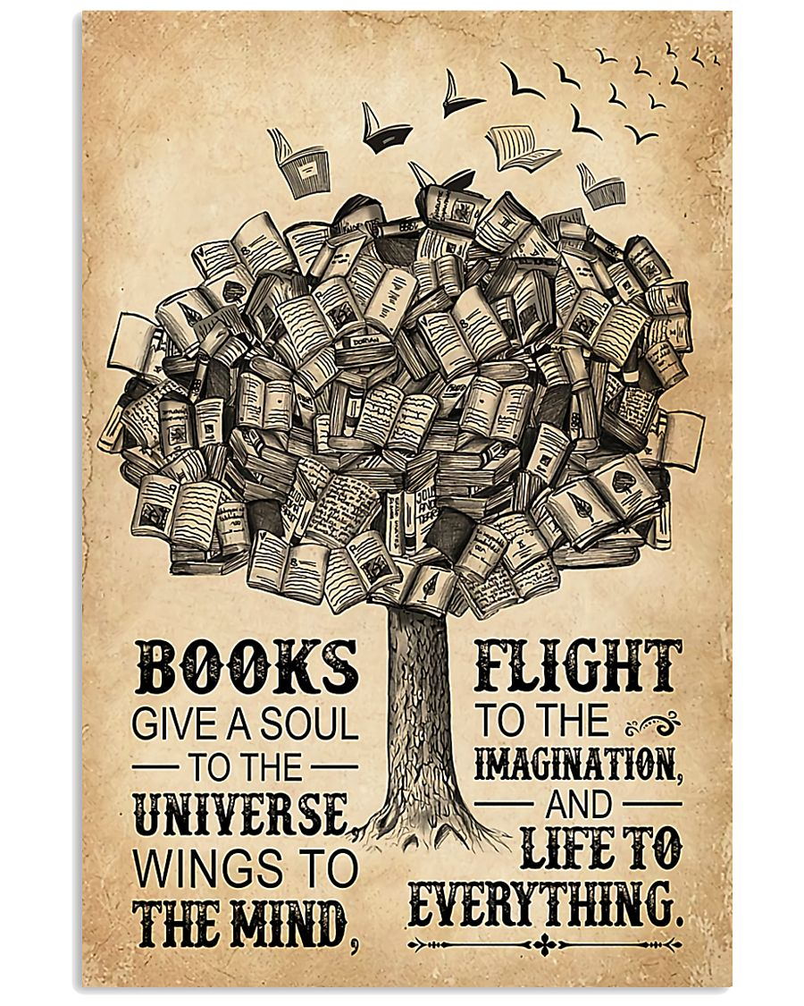 Librarian Books Give A Soul To The Universe 11x17 Poster